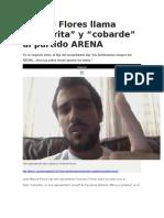 Diario 1 - Hijo de Flores Llama Hipócrita y Cobarde Al Partido ARENA - 01 02 16