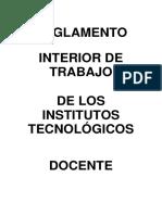 Reglamento Interior Del Personal Docente de Los ITS