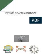 Estilos de Administración