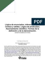 Logica_de_enunciados._Inferencia_logica._Certeza_y_validez._Logica_de_predicados._Razonamiento_cientifico._Formas_de_la_definicion_y_de_la_demostracion