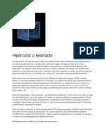 Hipercubo o Teseracto - Definición y enlaces-