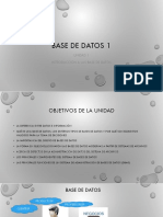 Unidad 1 Fundamentos de Base de Datos 1