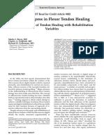Flexor Tendon Healing2005