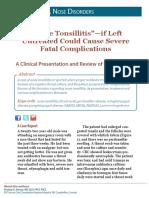 Acute Tonsillitis