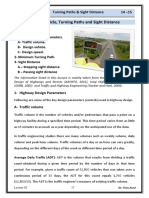 Lec 02 Highway Engineering - Design Parameters Turning Paths and Sight Distance