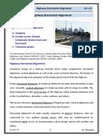 Lec 03 Highway Engineering - Horizontal Alignment