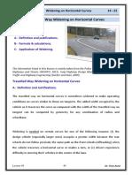 Lec 04 Highway Engineering - Curve Widening