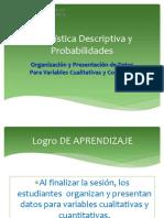 U1 Sem01 Ses02-Sesion de Clase Organizacion y Presentacion de Datos - PDF