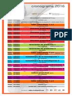cronograma MDPI 2016