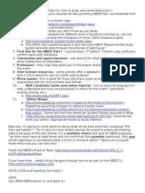 NBDE Part 1 Tips | Wikipedia | Test (Assessment)