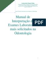 Apostila de Apoio a Interpretação de Exames Laboratoriais
