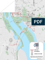 D.C. Bike Ride route map