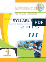 SYLLABUS 2016 secundaria