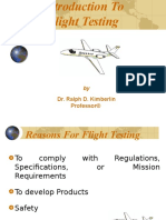 Intro to Flight Testing Engineering