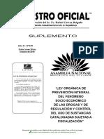Ley Orgánica de Prevención Integral de Drogas