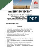 Huawei-Telkom University Interview Event - Bandung, Sep 23, 2014