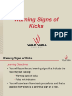 Warning Signs of Kicks