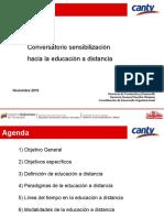 Conversatorio Sensibilización Educación a Distancia Nov-2015 Corregida El 03-12-15