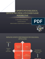 Repeated Sports Psychological Difficulties From a Psychodynamic Perspective