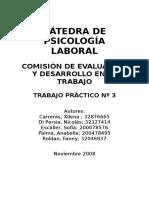 Trabajo Practico N°3 PSICOLOGÍA LABORAL