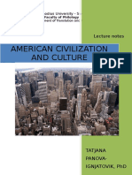 American Civilization and Culture - 2013-Notes