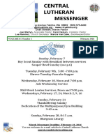 February 2016 Central Lutheran Messenger