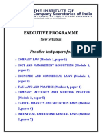 Practice Test Paper(Executive)-1