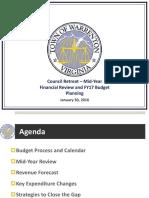 Finance Budget Retreat January 30 2016 Final