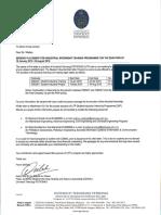 Offical University Letter