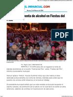 30-01-16 Limitarán la venta de alcohol en fiestas del Pitic
