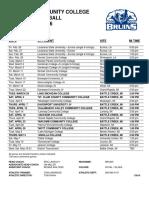 Kellogg Community College 2016 Baseball Schedule