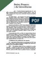Ruy Ribeiro Franco.. o Início Da Geociências
