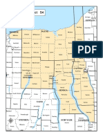 54th Senate District Map