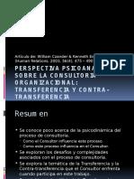 Perspectiva Psicoanalitica Sobre La Consultoria Organizacional