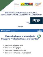 Didáctica Agroecológica para el Programa Todas Las Manos a La Siembra