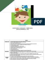 CODIFICACIÓN DE CAPACIDADES DE 1° A 6° ED. PRIMARIA 2016 DE MARZO A DICIEMBRE (MODELO)