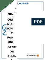 Manual de Organizaciones y Funciones Sercon e