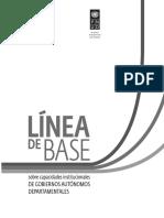 Línea de Base sobre Capacidades Institucionales de Gobiernos Autónomos Departamentales