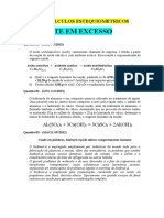Lista de Exercícios de Cálculos Estequiométricos