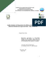 Análise Química de Degradação dos Hidrocarbonetos de Óleo Diesel no Estuário da Lagos dos Patos - RS