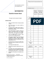Mock Paper Additional Mathematics