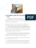 12 OF KARMA's Laws That Can Change Your Life