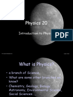 Physics 20 Introduction to Physics