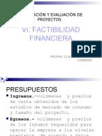 Vi. Factibilidad Financiera