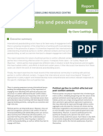 Political Parties and Peacebuilding