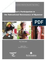 Women Participation in the Sub National Governance of Myanmar