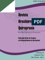 Revista Brasileira de Quiropraxia Vol 2 n 1