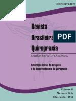 Revista Brasileira de Quiropraxia Vol 2 n 2
