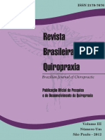 Revista Brasileira de Quiropraxia Vol 3 n 1
