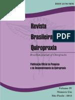 Revista Brasileira de Quiropraxia Vol 4 n 1